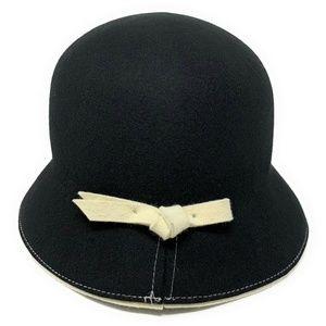 White House Black Market Wool Bowler Cloche Hat OS